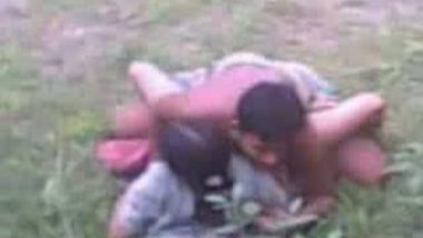 Village girl fucking in Fields with BF