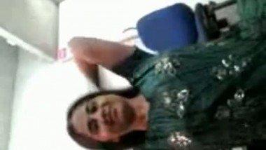 Beautiful Indian bhabhi Sumalatha getting her boobs squeezed by devar