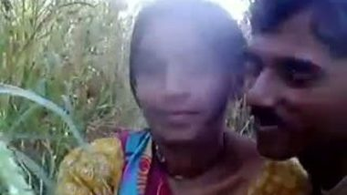 Desi girl enjoying with boyfriend in outdoor