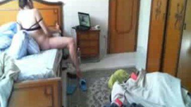 Horny wife masturbates when alone at home