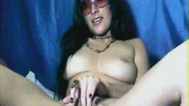 Horny Indian teacher blows her student On webcam