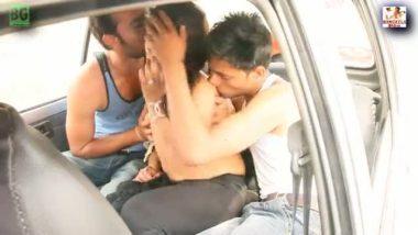 Bhojpuri model outdoor threesome sex against money