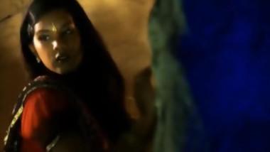 An Exotic Indian Woman Dances Seductively