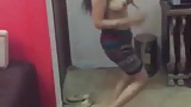 Indian girls enjoying dancing