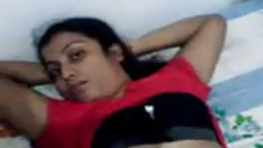 Hot indian young Couples foreplay on bed