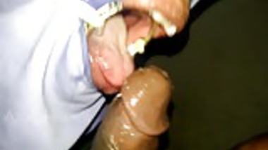 very rough sloppy ring gag throat job and cum puke