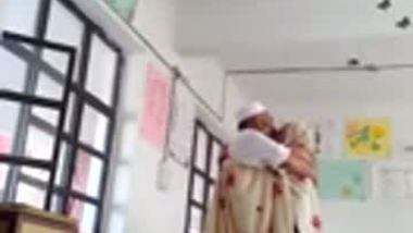 Muslim teen having a classroom sex with her tutor
