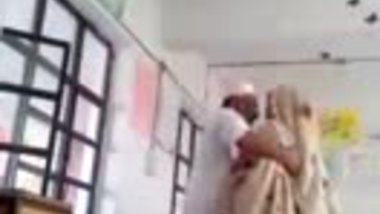 Classroom sex of a hot teacher and her student's dad