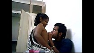 Young desi couple making out secretly at home