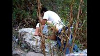 Desi collage girl doing jangal main mangal