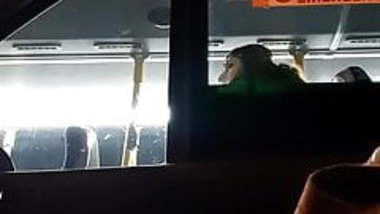 Cute Indian girl on bus pretends not to see my cock