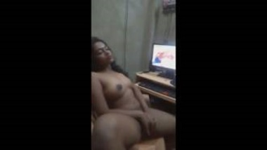 Horny Indian Girl Masturbating Watching Porn