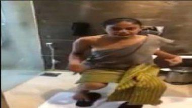 Hot Mumbai Girl's Sexy MMS Exposing Boobs And Legs In Hotel Room